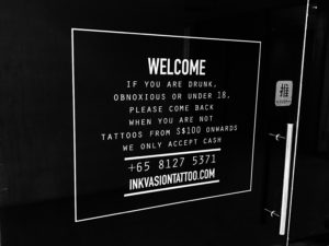 Inkvasion Tattoo Shop Singapore