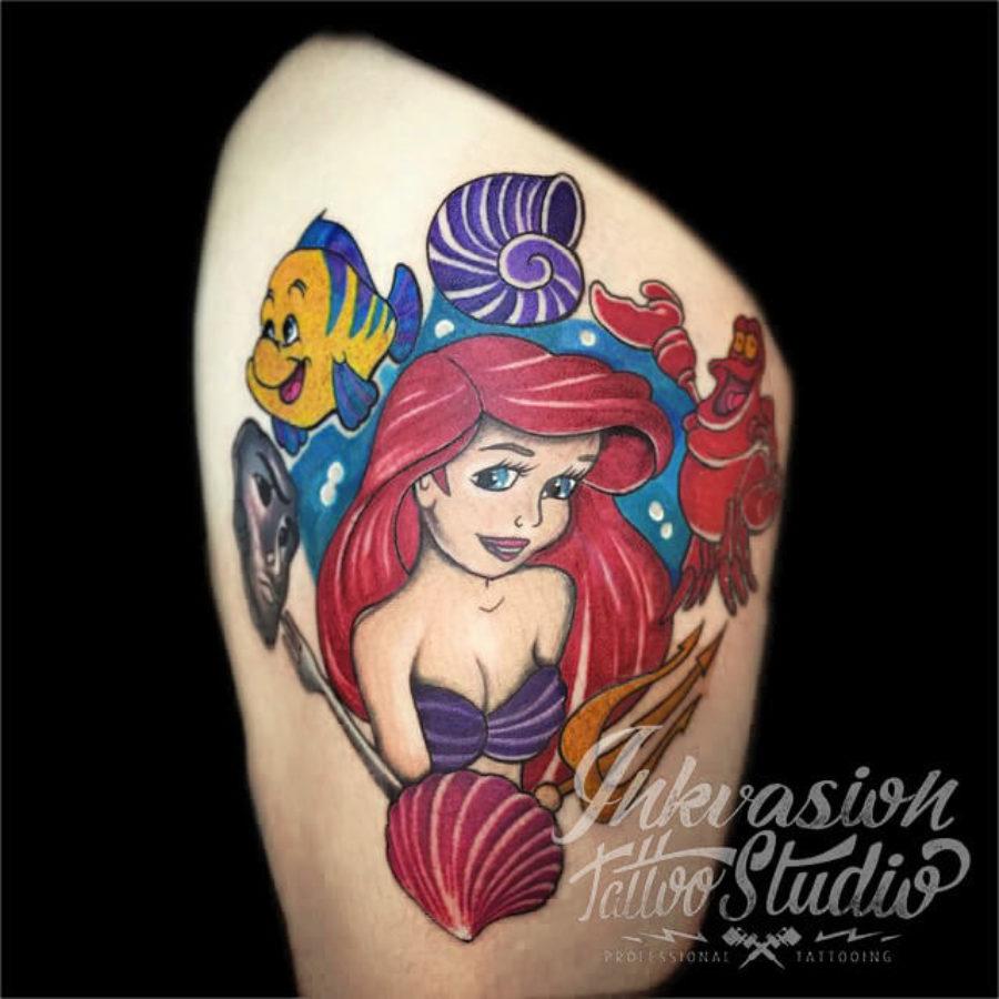 The Little Mermaid Ariel Tattoo