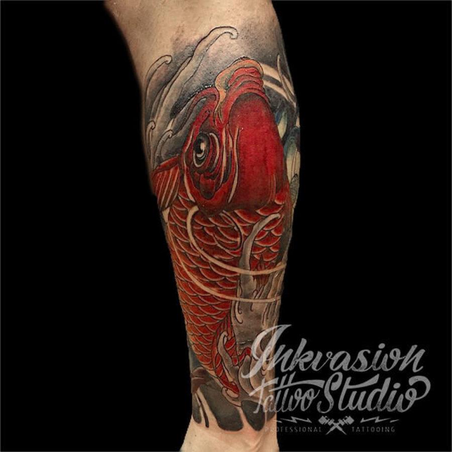 Red Koi Tattoo