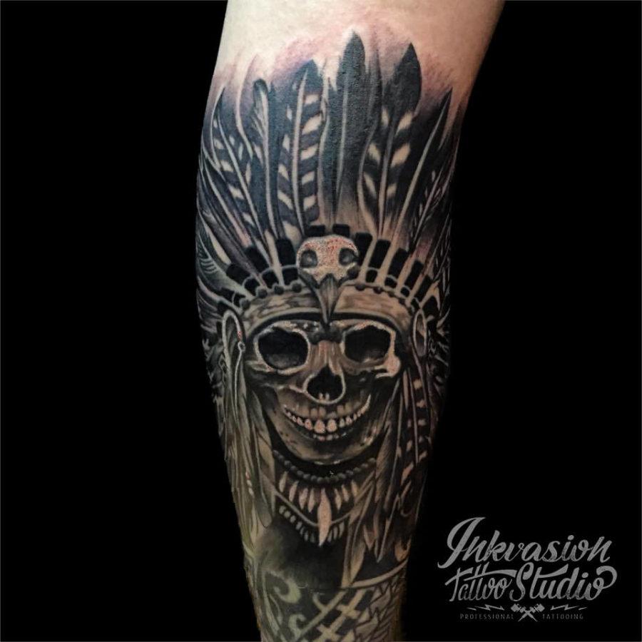 Skull Chief Tattoo