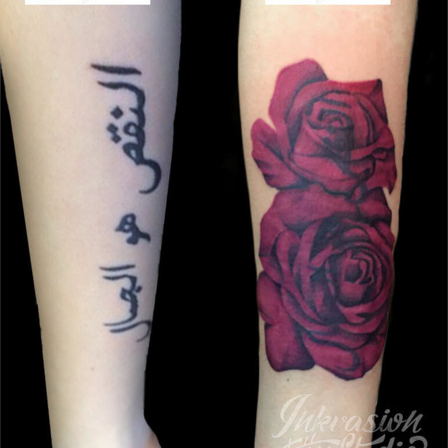 Roses Cover-Up Tattoo