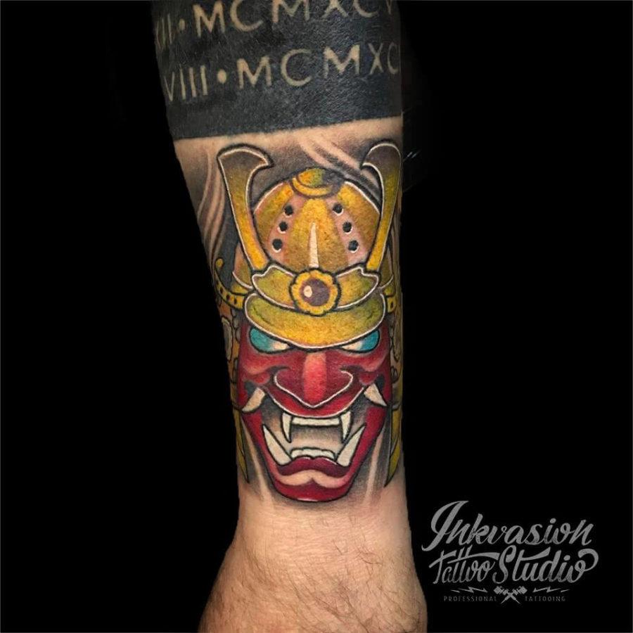 Kabuto Mask Tattoo