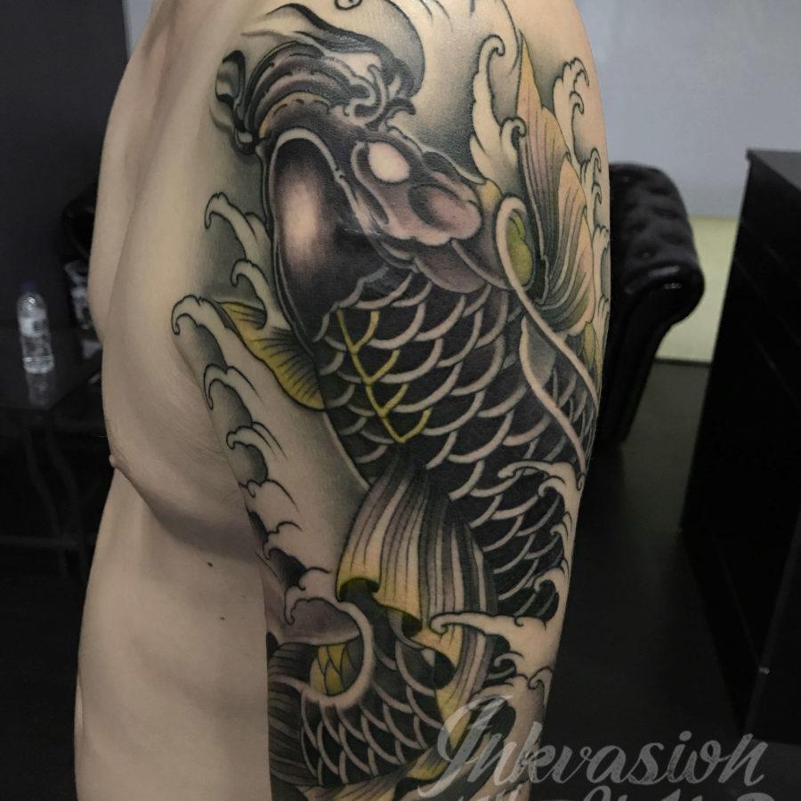 Japanese Half Sleeve Koi Tattoo