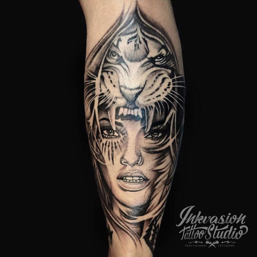 Tiger Girl Tattoo