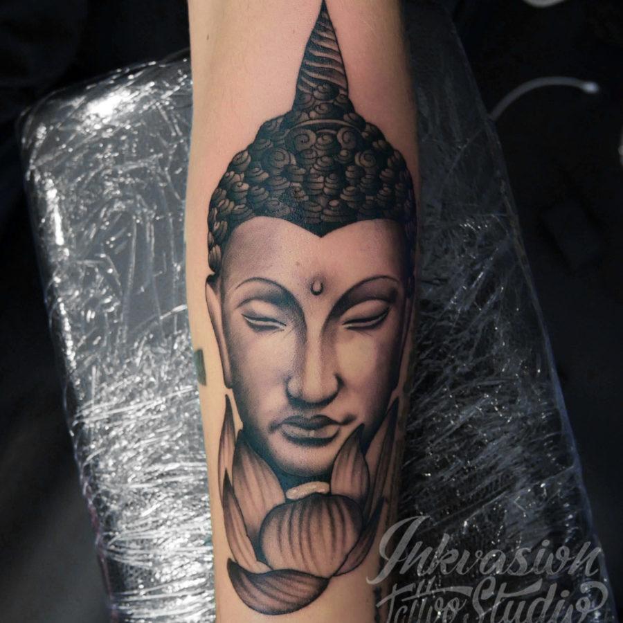 Buddha With Lotus Tattoo