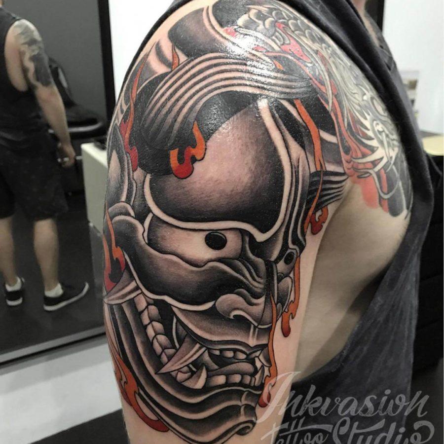 Hannya Flames Tattoo