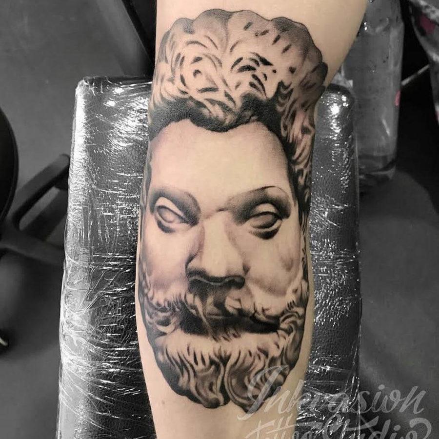 Marcus Aurelius Roman Emperor Tattoo