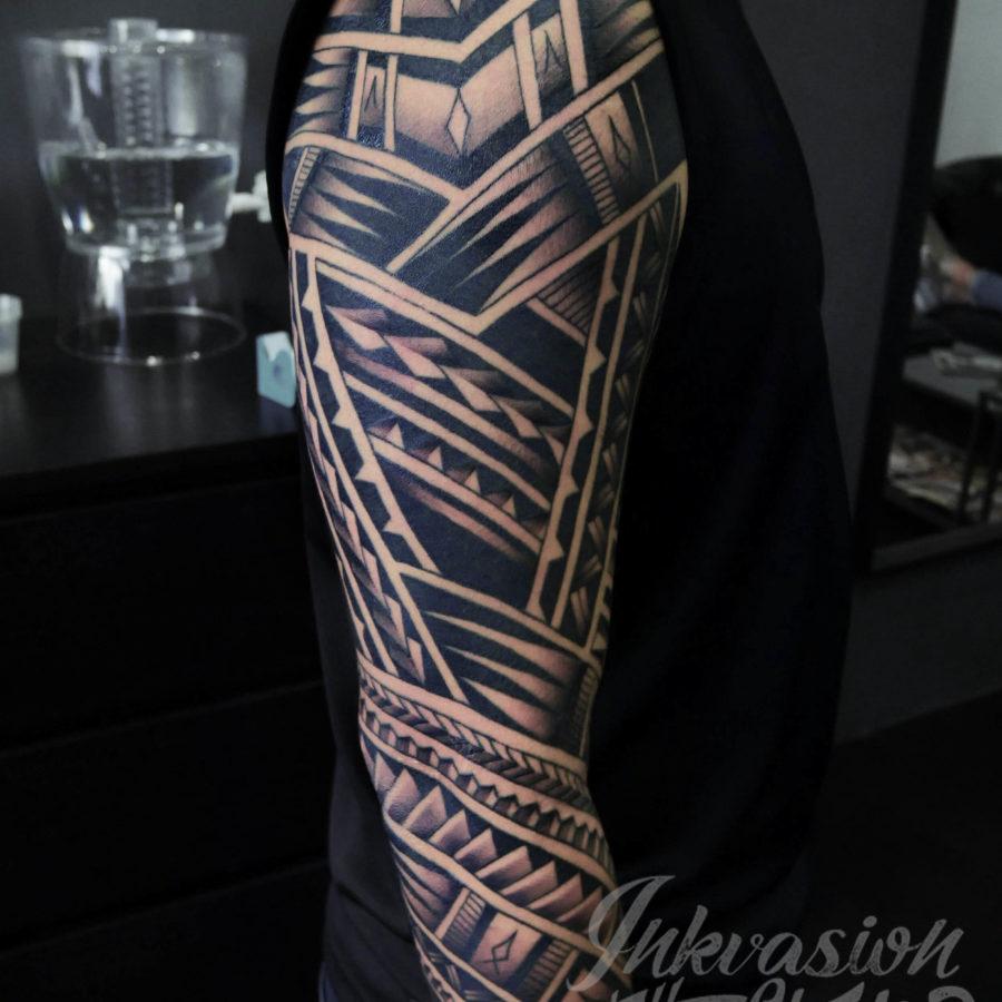 Polynesian Maori Sleeve Tattoo
