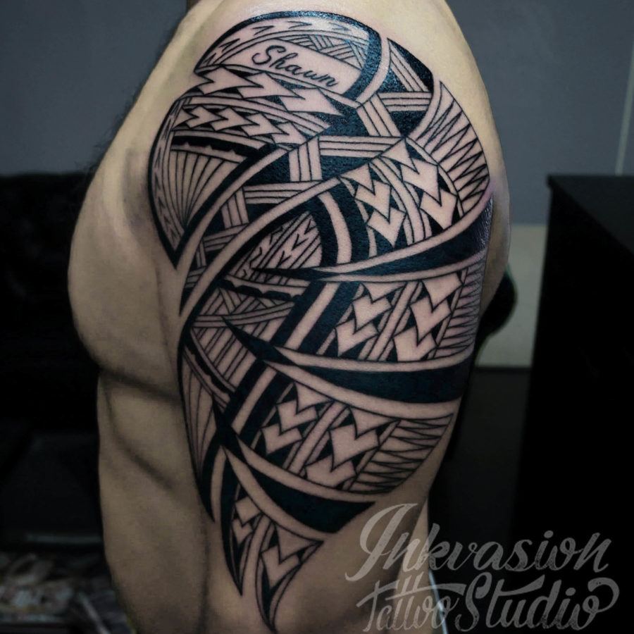 Tribal Polynesian Arm Tattoo