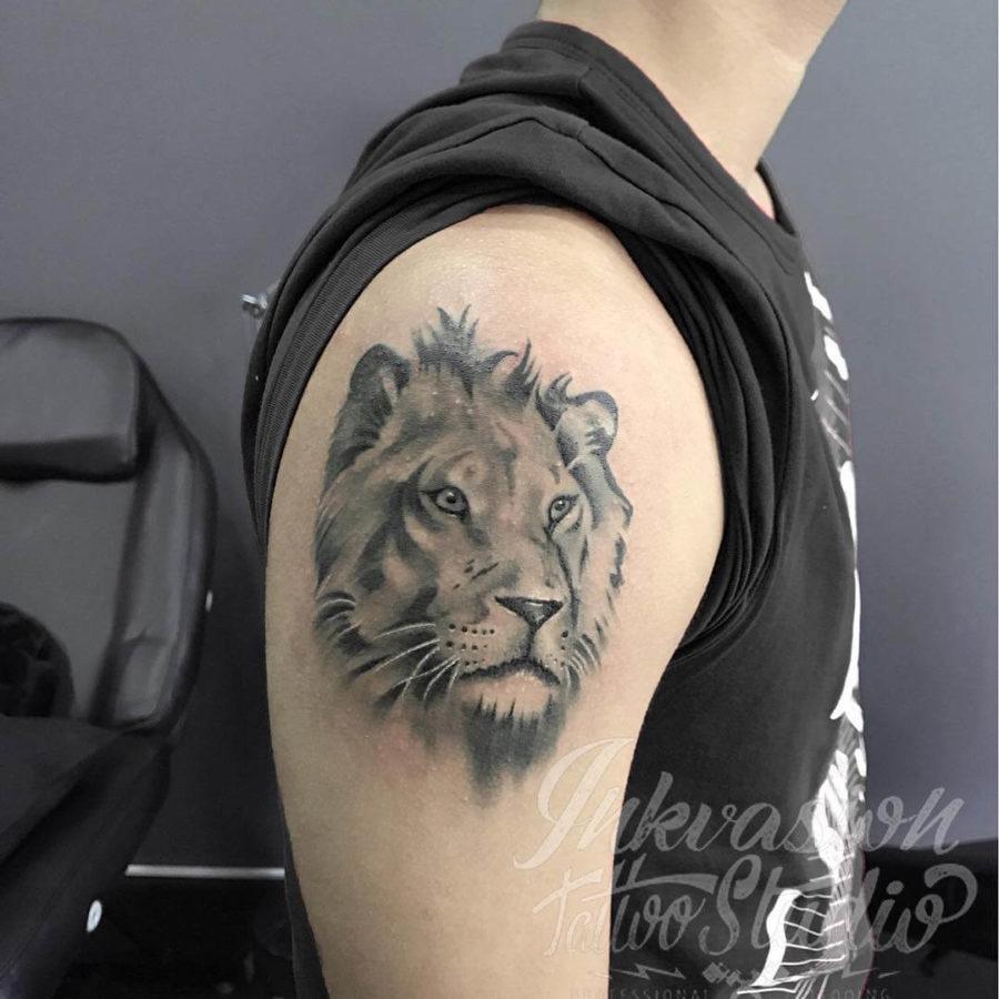 Reworked Lion Tattoo
