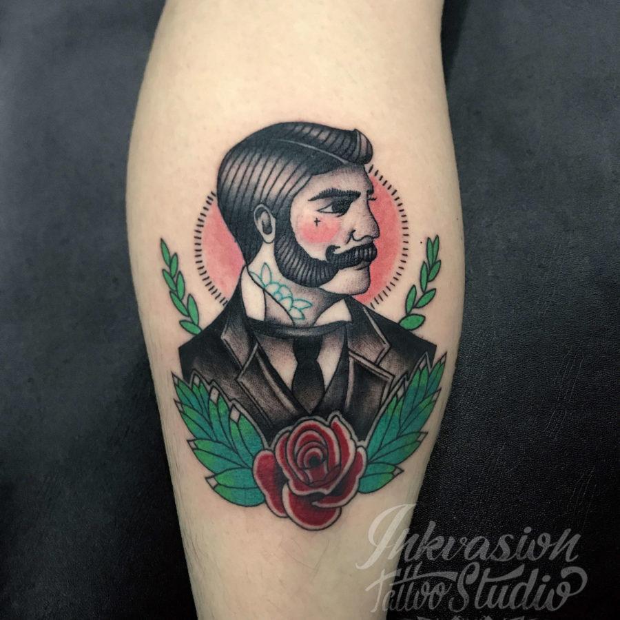 Traditional Victorian Gentleman Tattoo