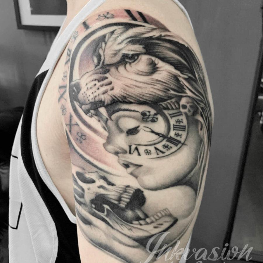 Wolf Hat Girl Tattoo